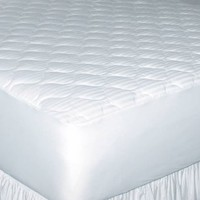 Newpoint Home Deluxe 250-Thread-Count Cotton Damask Stripe Twin XL Mattress Pad