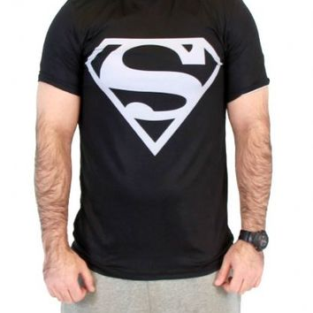 DC Comics Superman Silver Logo Men's Performance Athletic T-Shirt