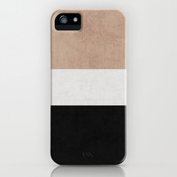 classic - natural, cream and black iPhone & iPod Case by Her Art