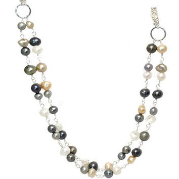 Mixed Pearl Rose Gold Necklace