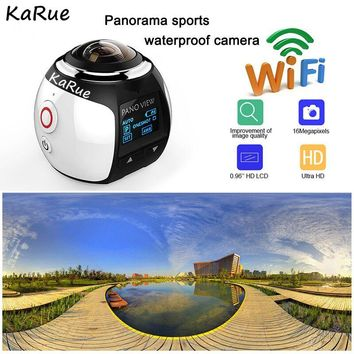KaRue 4K 360 Action Camera Wifi Mini Panoramic Camera 2448*2448 Ultra HD Panorama Camera 360 Degree Sport Driving VR Ca