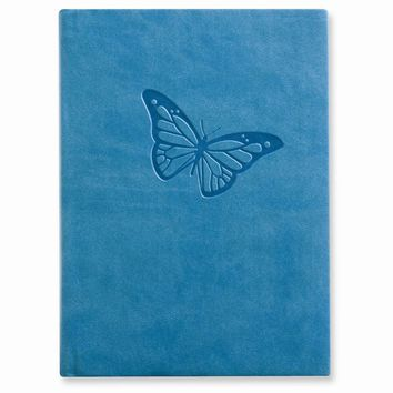 Butterfly Faux Leather Essentials Journal - Embossing Personalized Gift Item