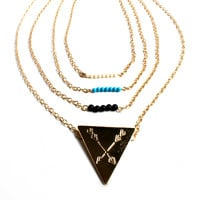 """""""Dream Team"""" Gold Multilayer Chain Necklace"""