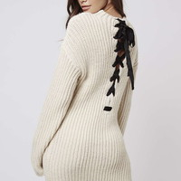 **Lace-Up Jumper Dress By Kendall + Kylie at Topshop - Topshop