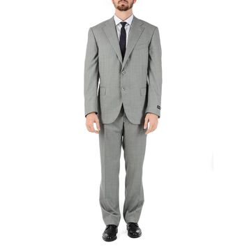 Corneliani Mens Suit Long Sleeves Grey Super 160's