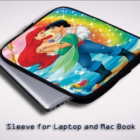 Little Mermaid Ariel Eric rainbow X0631 Sleeve for Laptop, Macbook Pro, Macbook Air (Twin Sides)