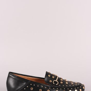 Studded Horsebit Slip-On Loafer