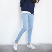 Autumn Ladies Slim Pencil Pants Korean Denim Jeans [9022913415]