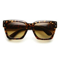 Women's Horned Rim Square Euro Fashion Sunglasses 9488