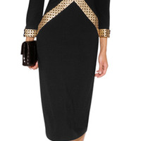 L'Wren Scott - Dress in Black/Gold
