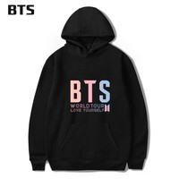 KPOP BTS Bangtan Boys Army  Print Love Yourself World Tour Hooded Tops  Clothes 2018 Harajuku Kawaii Hot Sale Hoodies Sweatshirt Plus Size AT_89_10