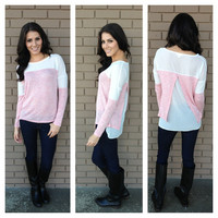 Pink Sweetheart Knit Top