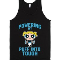 Powering My Puff Into Tough 3-Unisex Black Tank