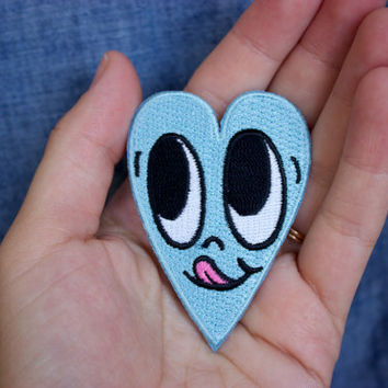 Mini Blue Heart Patch