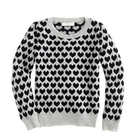 Girls' Collection cashmere long-sleeve tee in heart stack - j.crew cashmere - Girl's Girl_Special_Shops - J.Crew