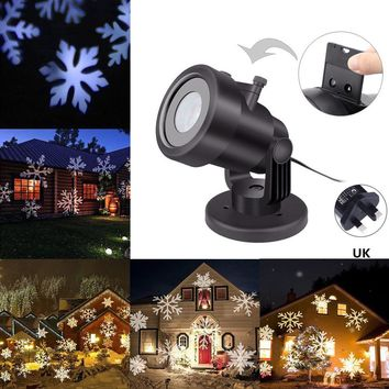 Festival LED Lights Moving Projector Landscape Snowflake Pattern Lamp Outdoor