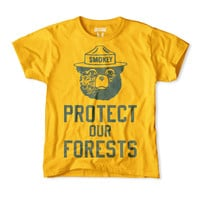 Smokey the Bear-Protect Our Forests Kids Tee
