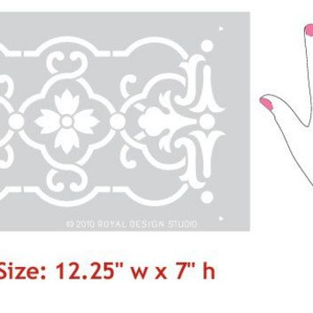 Granada Border Stencil for Wall Stencil Decor and Furniture Stencil Accents