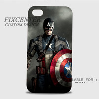 Captain America first avenger 3D Image Cases for iPhone 4/4S, iPhone 5/5S, iPhone 5C, iPhone 6, iPhone 6 Plus, iPod 4, iPod 5, Samsung Galaxy (S3, S4, S5) by FixCenters