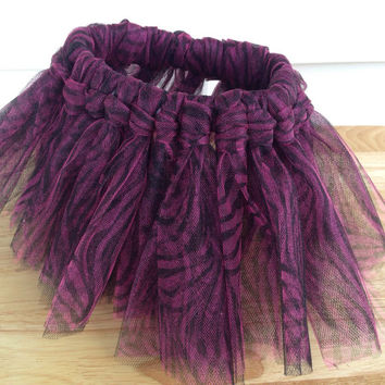Girl's tutu-purple animal print tutu- Dance Tutu-Dance Skirt-Newborn Tutu-Baby Tutu