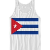 CUBAN FLAG TANK TOP CUBA SHIRTS LADIES TOPS GIFTS UNISEX TEES TRAVEL GIFTS #CUBA