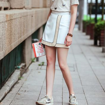 Summer Ladies White Bags Dress Skirt [8082580999]