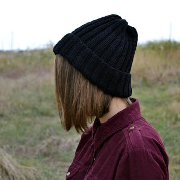 Free shipping - beanie hat - slouchy beanie - chunky knit hat - women hat - knit hat