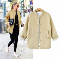Autumn Winter Women Extra Plus Size Outerwear Jacket a12988