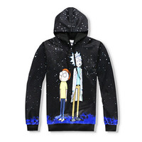 Rick and Morty Space - full print Hoodie