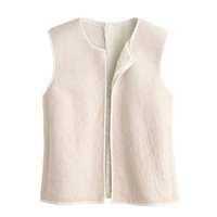 J.Crew Womens Collection Reversible Shearling Vest