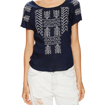 Lacy Embroidered Raglan Top
