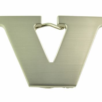 "Copy of Copy of Initial Letter Stainless Metal ""V"" Buckle-V Initial Belt Buckle-Brand New!"