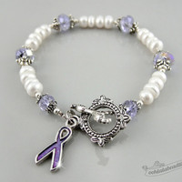 Cancer Awereness bracelet, awareness jewelry purple ribbon hope bracelet cancer awareness gynecologic cancer ribbon bracelet cancer jewelry