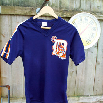 Vintage like new 1980s Detroit Tigers Majestic Jersey T-shirt Tee Made In USA Size Small