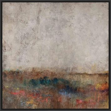 MOON GLOW 28L X 28H Floater Framed Art Giclee Wrapped Canvas