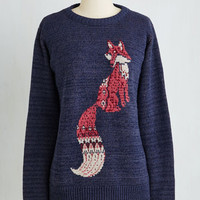 Folk Art Mid-length Long Sleeve Woodland You Rather Sweater