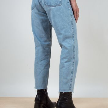 Levi's Raw Edge Cropped Jeans