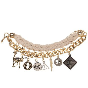 Harry Potter Charm Bracelet Hogwarts Jewelry