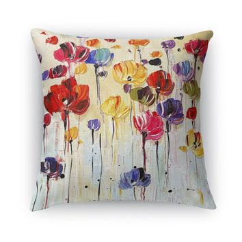 DANCING FLOWERS Accent Pillow By Jolina Anthony