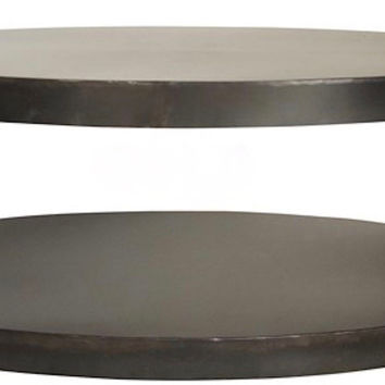 Otto Oval Metal Cocktail Table