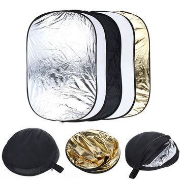 Free Collapsible 100cm*150cm 5-in-1 Photography background Reflector board photo studio Lighting Diffuser