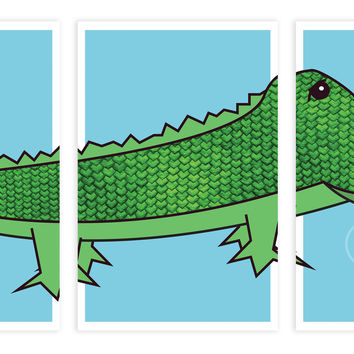 Print or Canvas, Alligator, Set of 3 Pieces