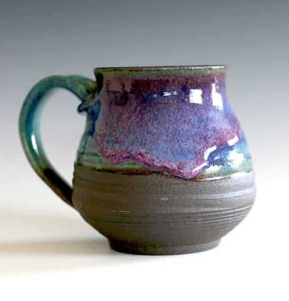 Coffee mug 16 oz handmade ceramic cup from ocpottery on Unique coffee cups mugs