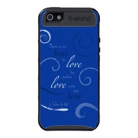 1 John 4:18 - Choose you own color. Customizable Case For iPhone 5