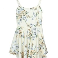 Ditsy Floral Print Chiffon Strappy Dress