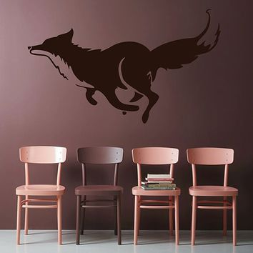 ik2946 Wall Decal Sticker animal fox living room bedroom