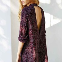Cooperative Keyhole Mini Dress- Purple Multi