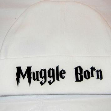 Muggle Born Baby Hat. Infant One Size Fits Most.