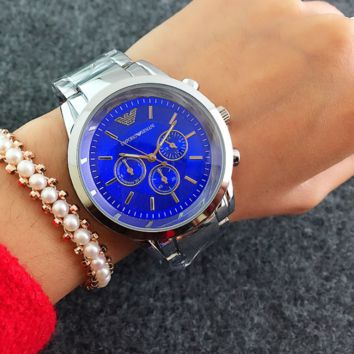 Emporio Armani Ladies Fashion Watch Blue