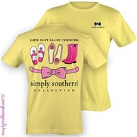 Simply Southern Collection Shoe Choices T-Shirt in Yellow